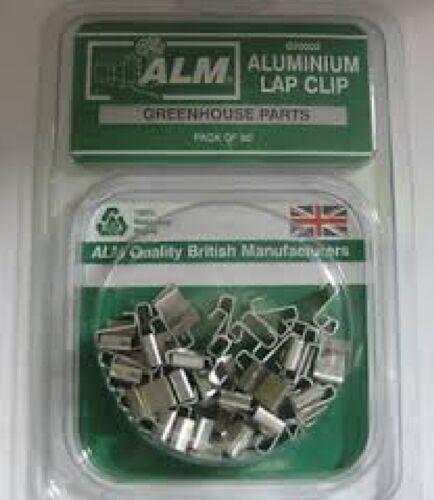 Alm GH002 Paquete de 50 clips de Efecto Invernadero Z Vuelta Clips De Aluminio los Titulares de Vidrio Forma