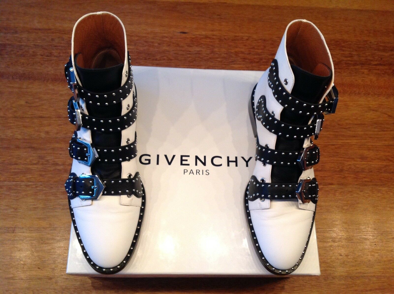 Givenchy Ankle Boot Boot Ankle Stiefelette schwarz / weiß top ORIGINAL 9e8d91