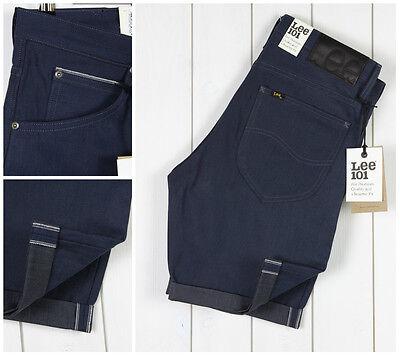 New Lee 101 Shorts Selvedge Denim Dry/raw Jeans Luke All Sizes S/m/l/xl