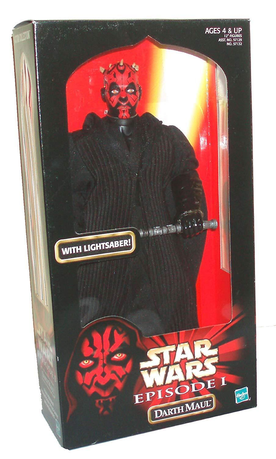 Star Wars Episode I DARTH MAUL w Double Bladed Lightsaber 12  Action Figure