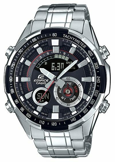 CASIO EDIFICE ERA-600D-1AVUEF MAN IN STEEL WITH THERMOMETER AND LIGHT LED