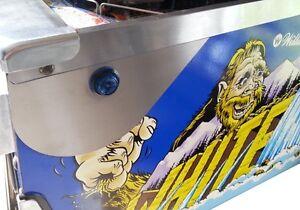 WHITEWATER DRACULA INDIANA JONES Pinball Flipper Button Guards PAIR mod