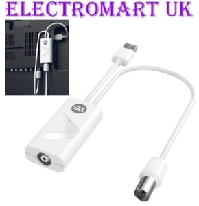 1 Voies Antenne Tv Signal Booster Amplificateur Tnt Hd Dab Filtre 4 G Usb Alimente Ebay