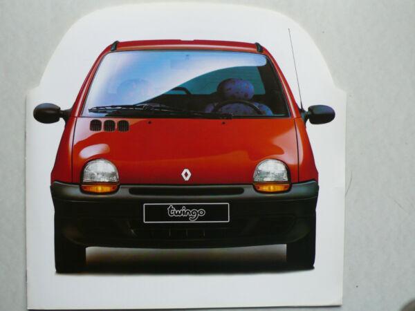100% Vero Prospetto Renault Twingo Per La Svizzera Per Premiere, 6.1993, 8 Pagine, 30x29 Cm