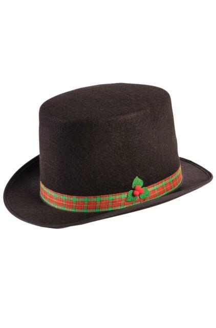Christmas Caroler Mens Adult Holiday Festive Costume Top Hat