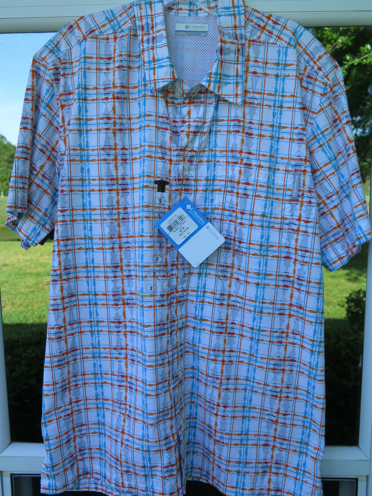 Columbia PFG Short Sleeve Tide Seeker Outdoor Vented Fishing Shirt Small NWT NEW
