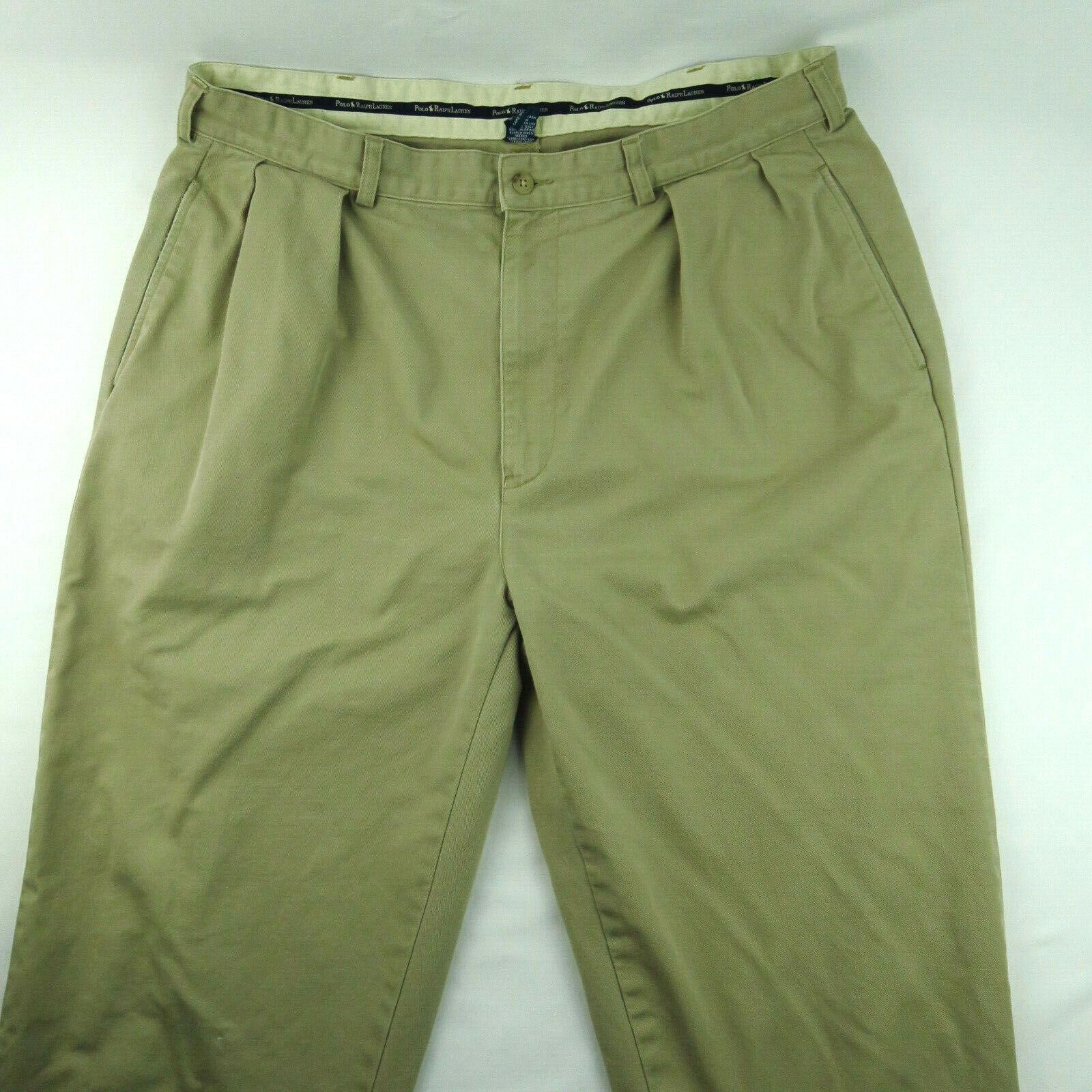 VTG Polo Chino Ralph Lauren Mens Khaki Tan Pants … - image 1