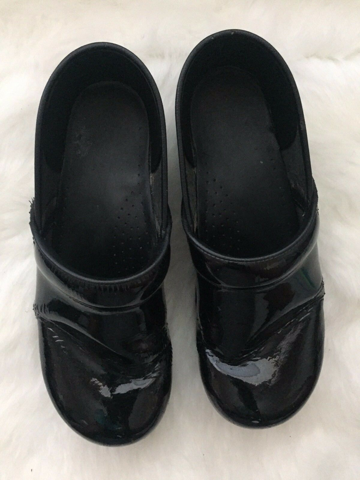 DANSKO Black Patent Leather Leather Leather Clog shoes Sz 42 11.5-12 da5699