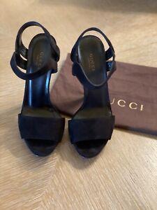 Gucci-Black-Suede-Open-Toe-Multi-Side-Heel-Sandal