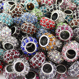 5pcs-12mm-Czech-Crystal-Silver-Big-Hole-Spacer-Charm-Beads-for-European-Bracelet