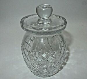 Waterford Cut Crystal Jam Jelly Honey Jar With Spoon Slot Lid Ebay