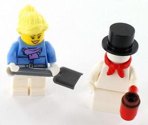 NEUF Lego City bonhomme de neige et Mme lors du Schippen de neige de Set 60201
