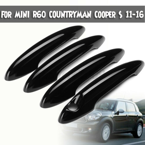 4Pcs Black Door Handle Covers Trim For MINI R60 COUNTRYMAN Cooper S 11-16