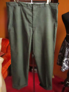 42x29-FIT-True-Vtg-70s-SEARS-OLIVE-GREEN-FEATHERWEIGHT-Work-jeans-Pants-USA