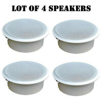 Lot Of (4) Pyle Pdpc82 8 In-ceiling 2-way Flush Mount Enclosure Speaker System on sale