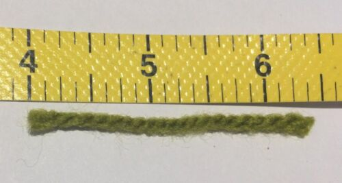 3 ply Green 320 strands Use with Zweigart 5hpi canvas 25 packs latch hook yarn