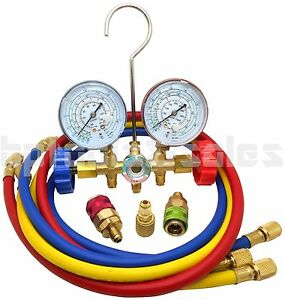 Refrigeration Air Conditioning A/C Diagnostic Manifold Gauge R134a R502a R22 R12