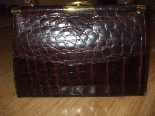Vintage Vassar gorgeous alligator leather lined la