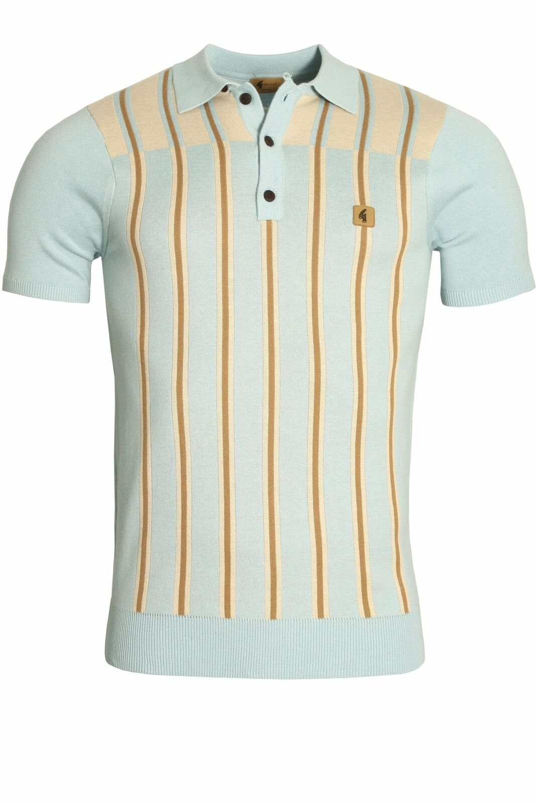 Mens Polo Shirt GABICCI Holmdene Boating Stripe Polo Shirt   Mist