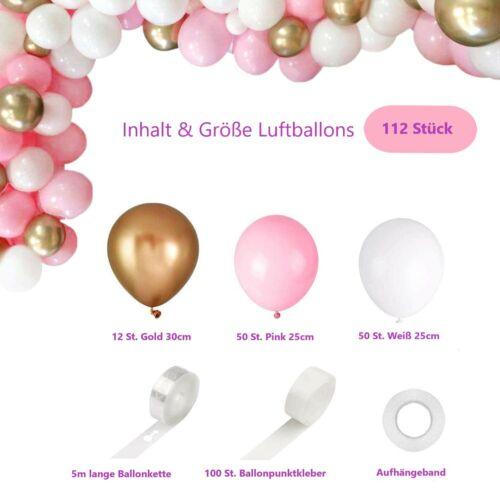 BOY oder GIRL Babyparty Deko Luftballons-Girlande Folienballons Babyshower