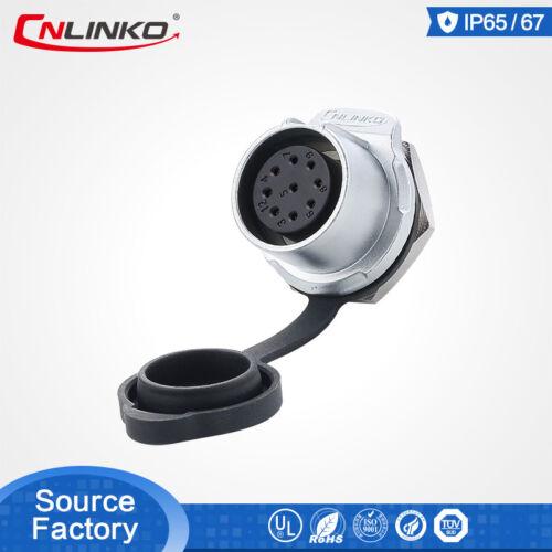 CNLinko M20 IP65//IP67 9 Pin Waterproof Connector Plug Panel Mount Welding Socket