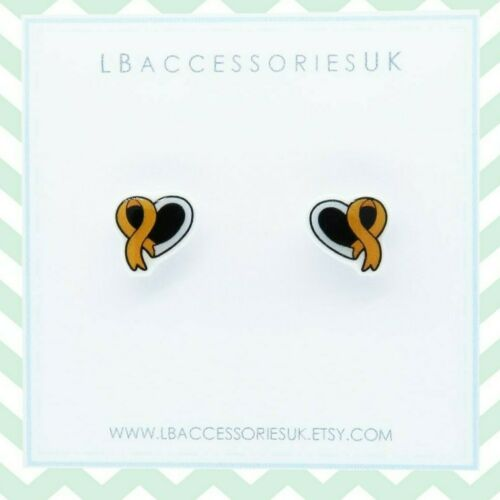 Fundraising for Charity Awareness Ribbon Studs Silver Project Childhood Cancer