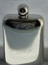 6oz stamped pewter hip flask with ball top