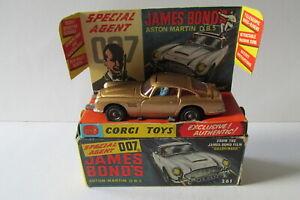 CORGI-261-James-Bond-Aston-Martin-DB5-SCATOLA-ORIGINALE