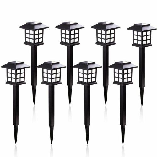 8PCS Garden Outdoor Spots Lights LED Lawn Solar Landscape Path Lights Yard Lamp