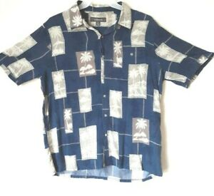Croft-amp-Barrow-Men-039-s-Size-Large-Hawaiian-Tropical-Short-Sleeve-Shirt