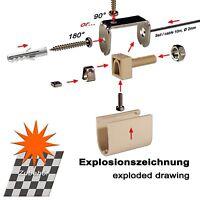 Erweiterung Set Pergola Markise, 2 X Seilspanner Extra Schmal, 10m Edelstahlseil