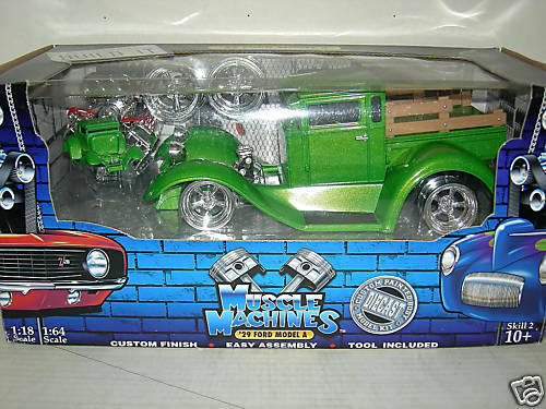 29 FORD MODLE A IN GLOSS GREEN  BUILDITKIT COMP1 18 MIB