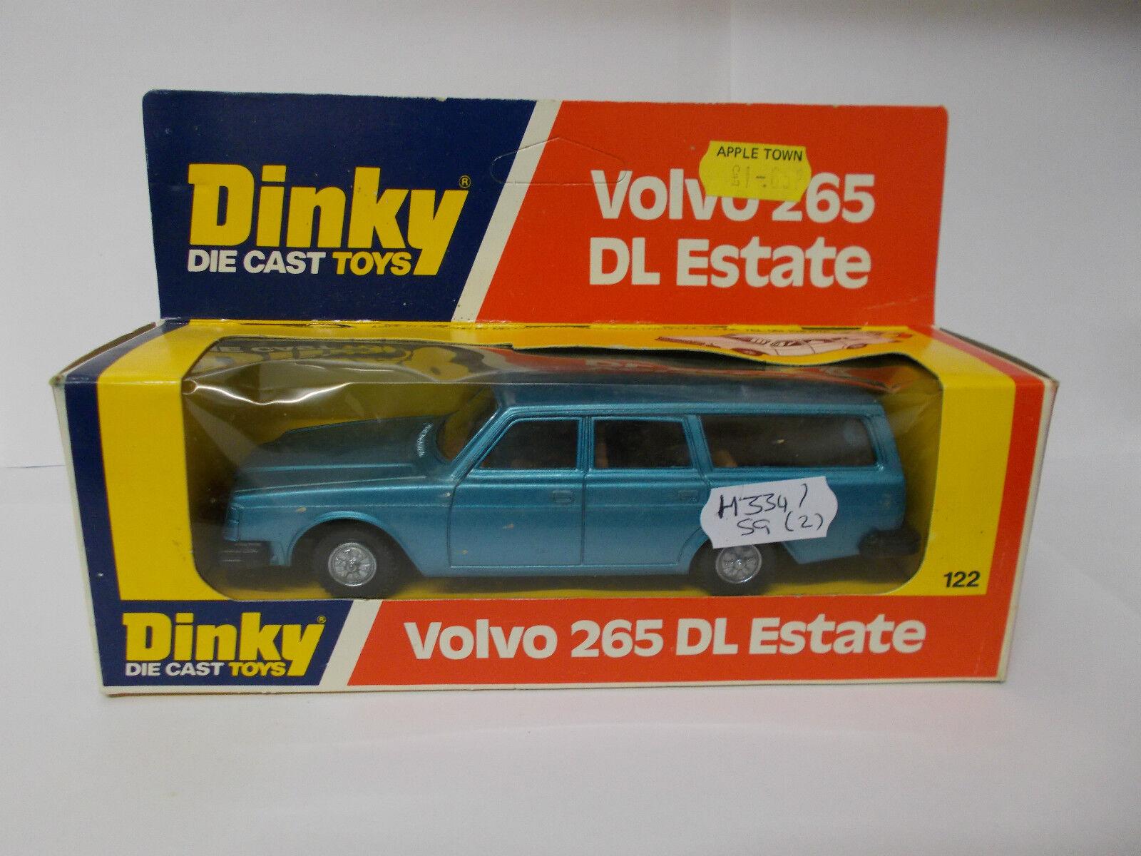 Dinky 122 122 122 Volvo 265 DL finca en Caja Vintage 1977 7bac08