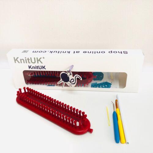 52 chevilles Ajustée-Medium Gauge Loom. Knituk long rouge Knitting Loom