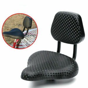 Comfort-Wide-Cruiser-Bike-Saddle-Seat-Soft-Cushion-Pad-Bicycle-Seat-W-Back-Rest