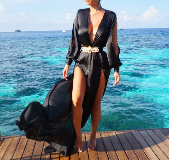New Women's Summer Dress Boho Maxi Long Evening Party Dress Beach Dress Sundress
