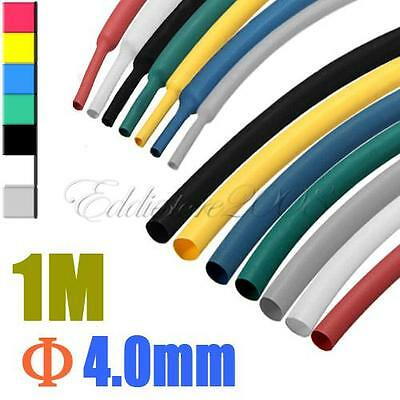1M 4.0mm 7 Color 2:1 Polyolefin Heat Shrink Tubing Tube Sleeve Sleeving Wrap #LW