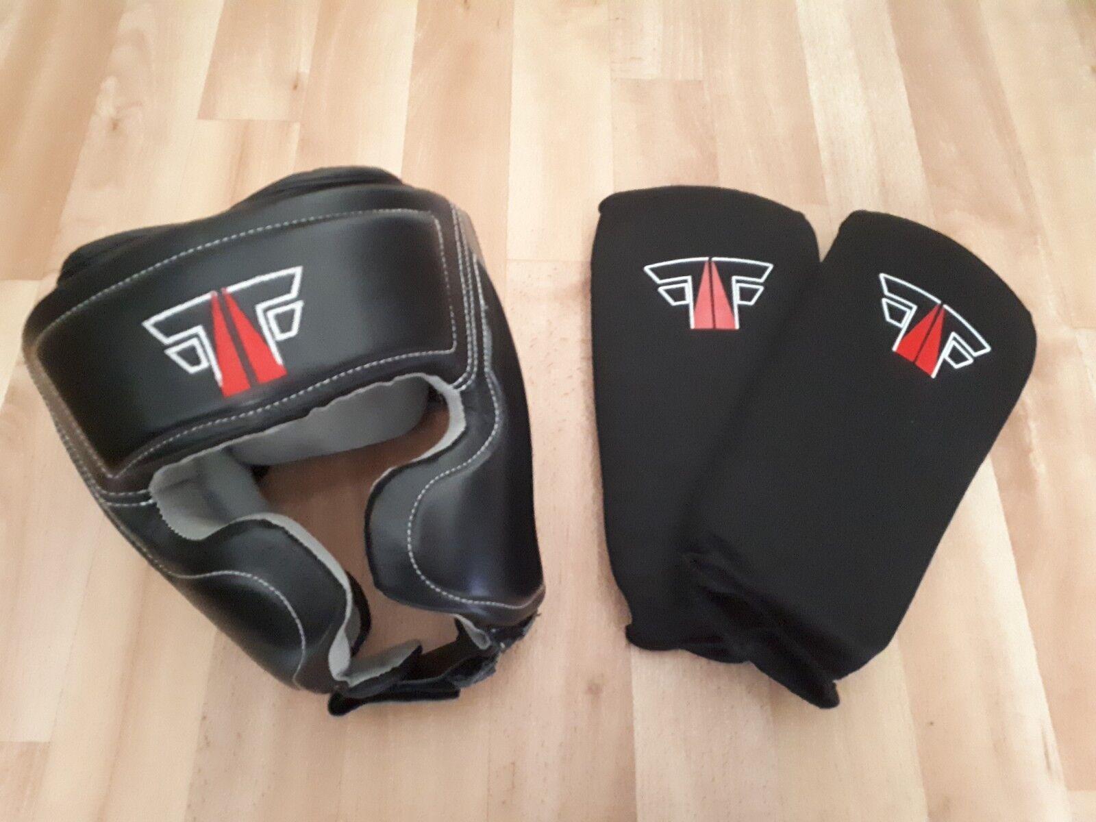 Kopfschutz ,Schienbeinschutz und und ,Schienbeinschutz Handschuhe Boxen 19dd0e