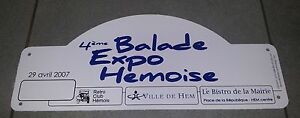 PLAQUE-RALLYE-4EM-BALADE-EXPO-HEMOISE-RETRO-CLUB-HEMOIS-CITROEN-TRACTION-JEEP-US