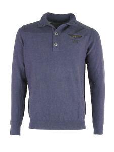 Pme blu Legend scuro maglia uomo Maglione cotone Pullover maglione blu qqA0r1