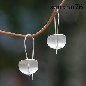 Woman-Earrings-Jewelry-Silver-Hook-Earrings-Dangle-Drop-Hook-Eardrop-Gift