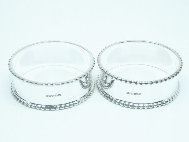 Pair Sterling Silver Napkin Rings, BNIB, Gift, Christmas, Xmas, Christening