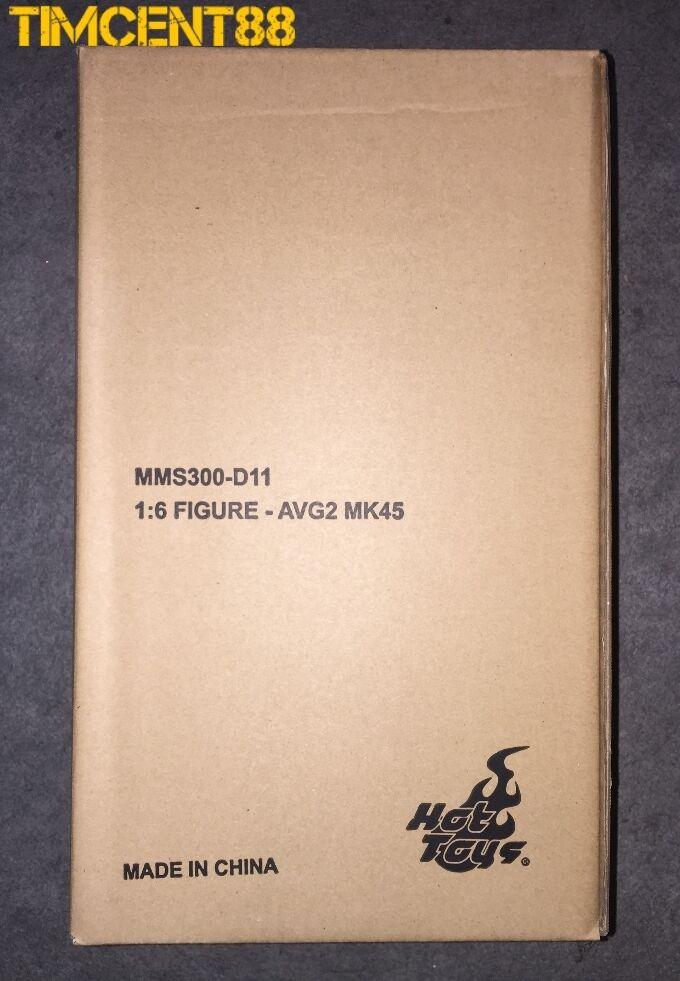 Listo Hot Juguetes MMS300D11 Los Vengadores Edad de Ultron Iron Man Mark 45 XLV Diecast 1 6