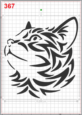 Reusable Flexible Plastic Stencil Cat Face
