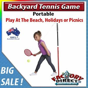 Image Is Loading NEW Portable Backyard Tennis Game Outdoors Beach Yard