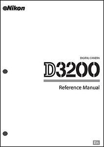 nikon d3200 user manual guide instruction operator manual ebay rh ebay com d3200 user manual nikon d3200 instruction manual