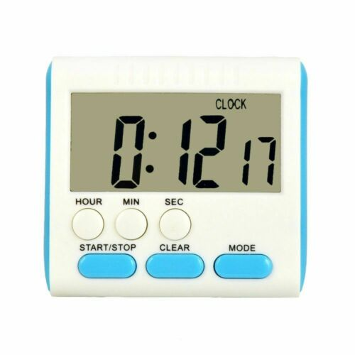 Magnetic Large LCD Digital Kitchen Timer with loud Alarm Count Up/& Down Clock