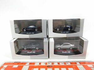 CG458-0-5-4x-Herpa-authentic-collection-H0-1-87-PKW-Automobil-Audi-A8-NEUW-OVP