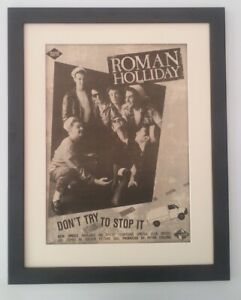 ROMAN-HOLIDAY-Don-039-t-Try-Stop-US-1983-ORIGINAL-POSTER-AD-FRAMED-FAST-WORLD-SHIP