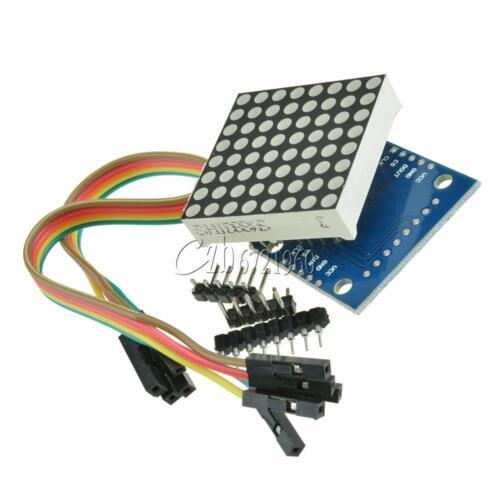 2Pcs MAX7219 Módulo De Matriz De Puntos Arduino Microcontrolador Pantalla Módulo kits de Hágalo usted mismo